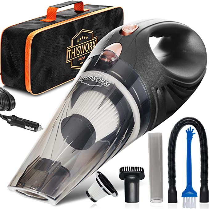Handheld vacuun cleaner for car with three all purpose nozzle and bag