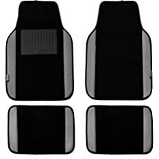 Black floor mats with grey edges mock