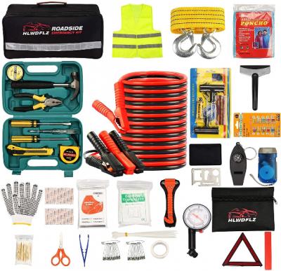 HLWDFLZ Car Roadside Emergency Kit