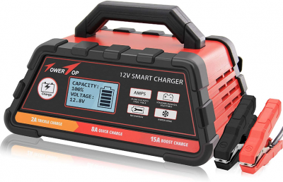 2/8/15A 12V Fully Automatic Smart Battery Charger