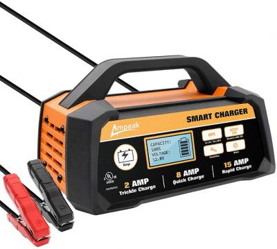 Ampeak 2/8/15A 12V Smart Battery Charger