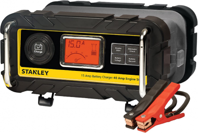 STANLEY BC15BS Fully Automatic 15 Amp 12V Bench Battery Charger